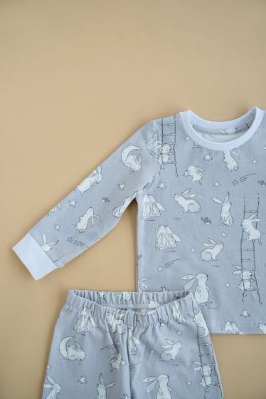 """Детская пижама с авторским принтом """"Небесные зайчики"""""""