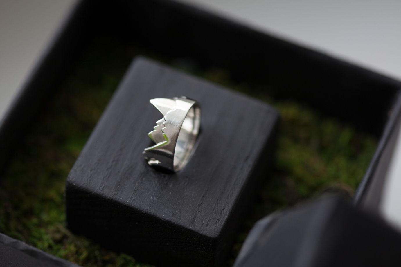 Серебряное кольцо Гора
