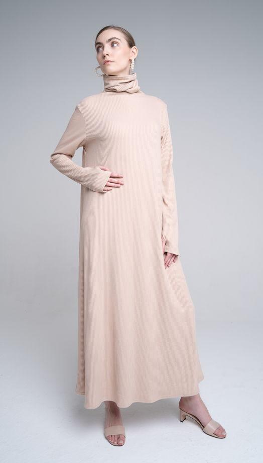Платье из бамбуковой вискозы в цвете французская ваниль