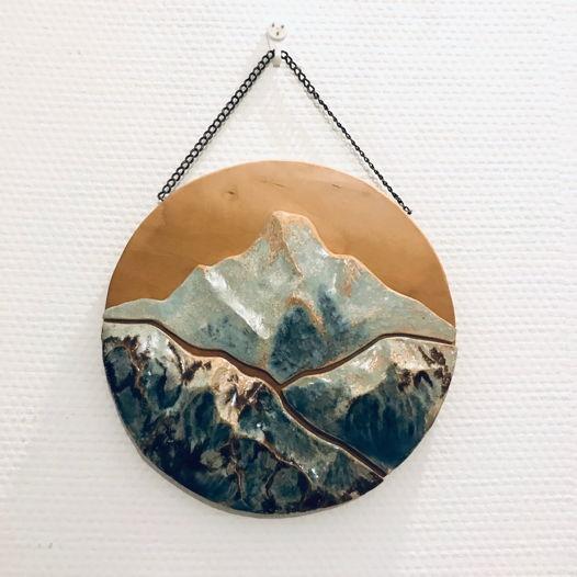 Керамические горы (панно)