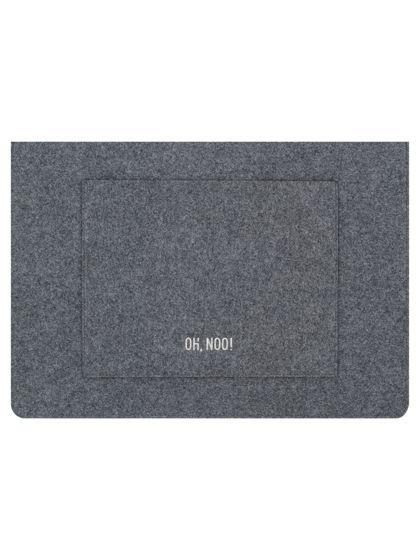 Чехол из фетра для MacBook и ноутбуков, темно-серый, горизонтальный