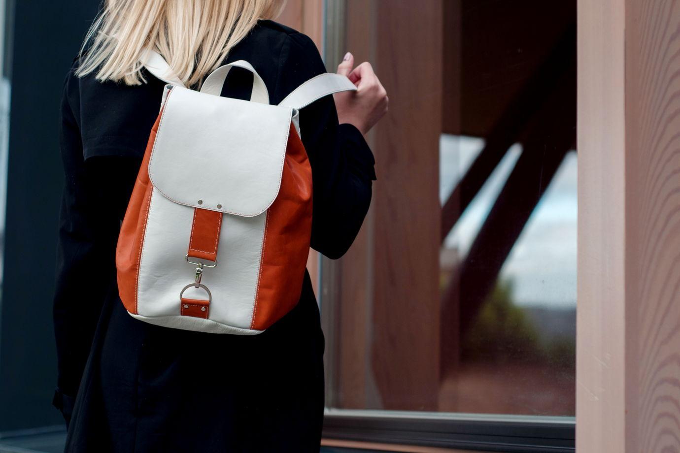 """Кожаный рюкзак  """"Clockwork Orange"""""""