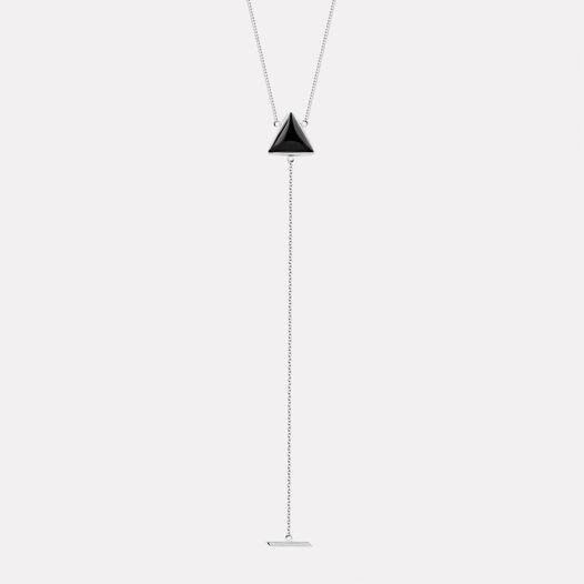 Колье треугольник с ониксом