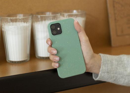 Биоразлагаемый чехол SOLOMA для iPhone 12 Mini Мята