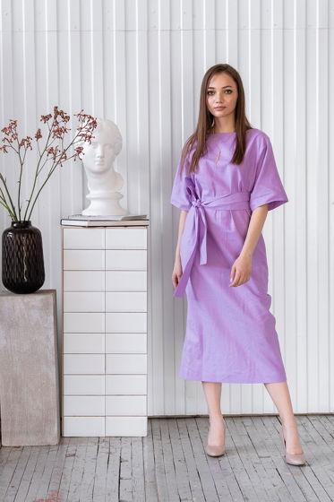 Платье прямое длины миди Амалия, цвет фиолетовый