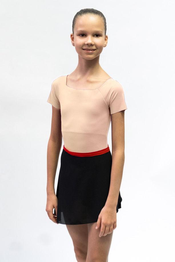 Детский купальник Футболка для балета в фиолетовом, сером, черном, бежевом цветах