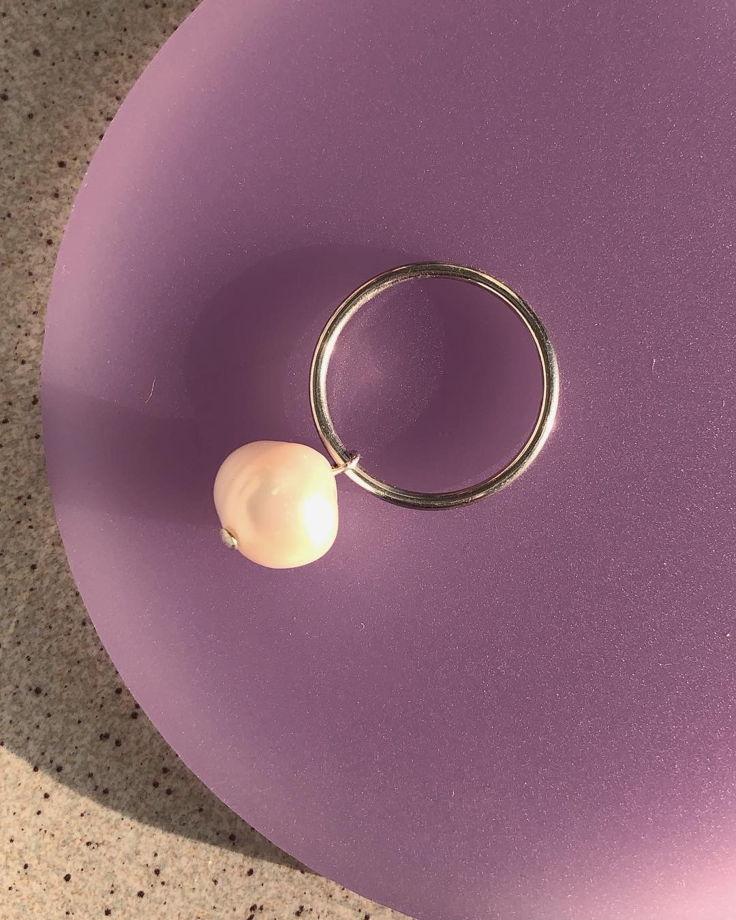 Кольцо с подвесной жемчужиной Handy Candy Pearl
