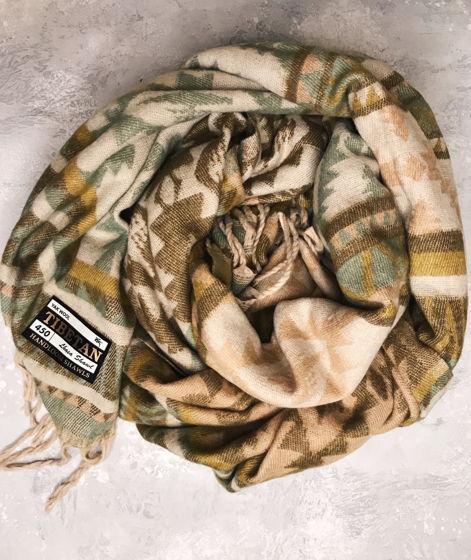 Теплый Шарф-Плед из натуральной шерсти яка из Гималаев