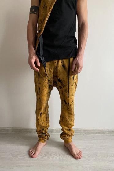 концептуальные мягкие трикотажные штаны ручного вощения