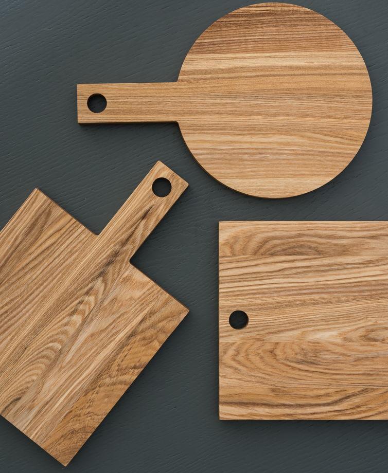 Круглая деревянная доска х «Простые вещи»