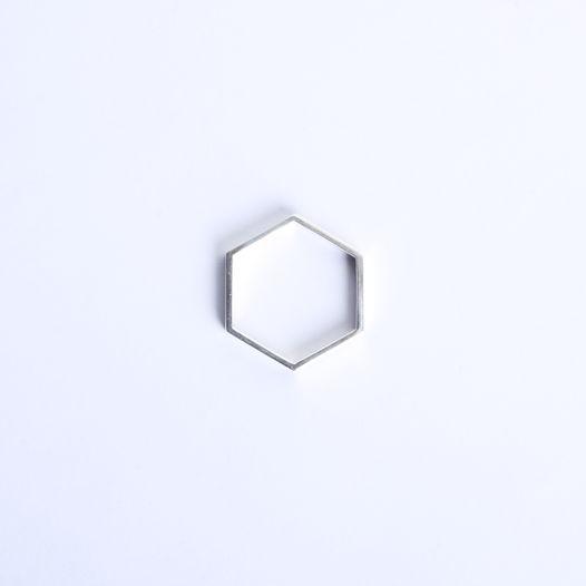 серебряное кольцо Honeycomb