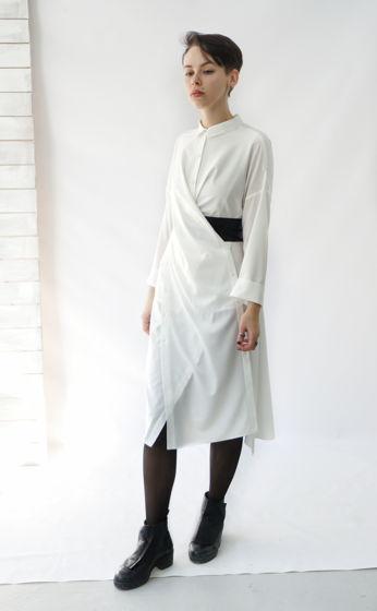 Платье рубашка трансформер | белая