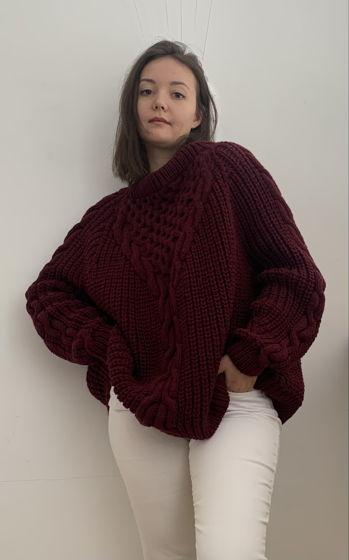 Объемный свитер из полушерсти под заказ