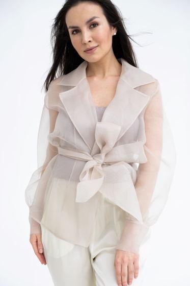 Блузка из шелковой органзы Charlotte