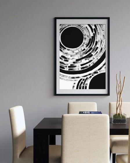 Постер ручной работы, акрил, бумага BLACK 1