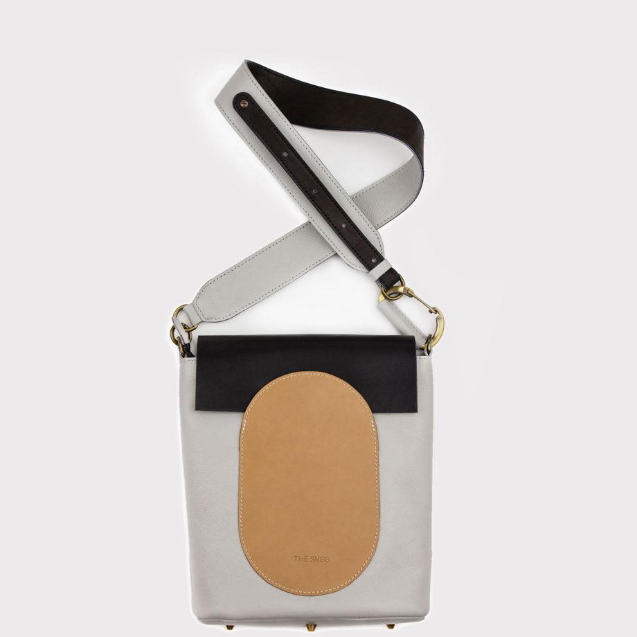 Кожаная сумка Arc Mini Pearl/Nude