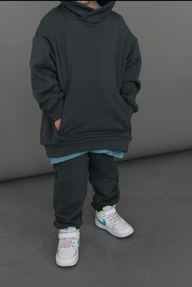 Детский костюм ОВЕРСАЙЗ футер 3х нитка петля. Цвет цемент