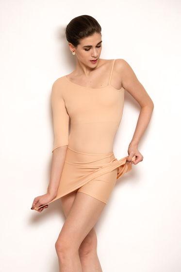 Юбка + Шорты Тянутся | basic для балета в сером, черном и телесном цветах