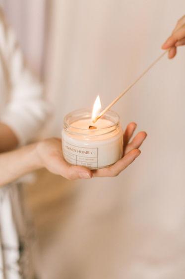 Соевая свеча с деревянным фитилём