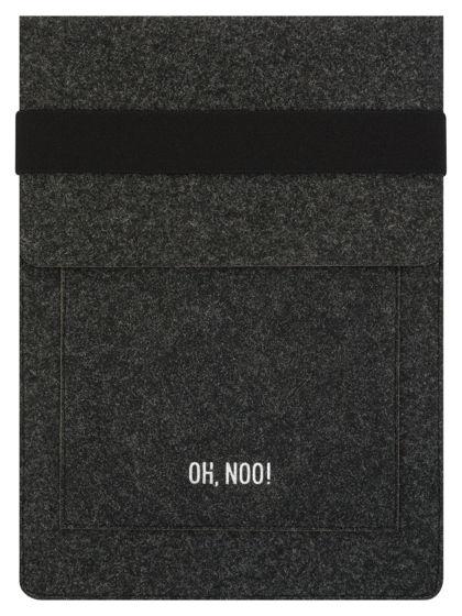 Чехол из фетра для MacBook и ноутбуков, черный, вертикальный с крышкой