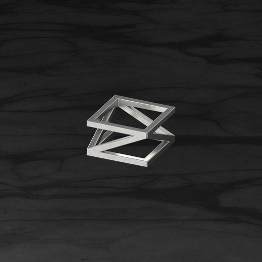 Кольцо Диагональ1.Серебро
