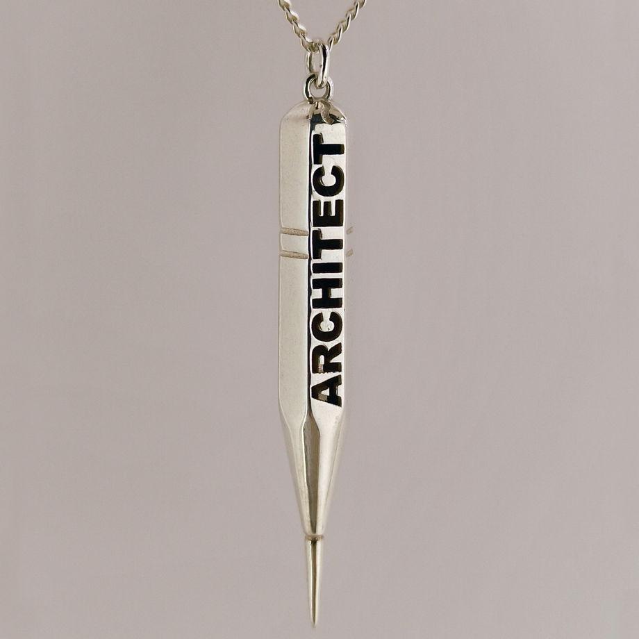 Серебряная подвеска Непростой карандаш 8В ARCHITECT