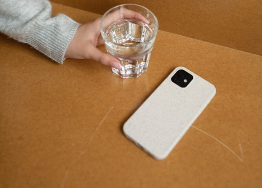 Биоразлагаемый чехол SOLOMA для iPhone 12/12 Pro Пшеница
