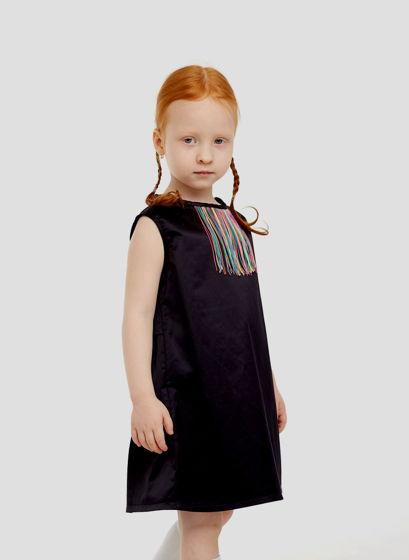 Платье с бахромой СОФИ   (хлопок, размер 104-110)