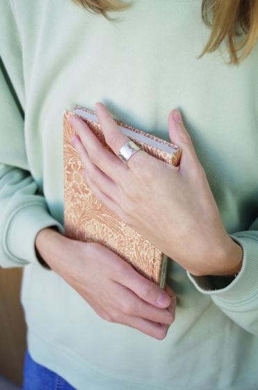 Low Flow Silver Широкое фактурное кольцо из серебра. Ручное изготовление и ковка