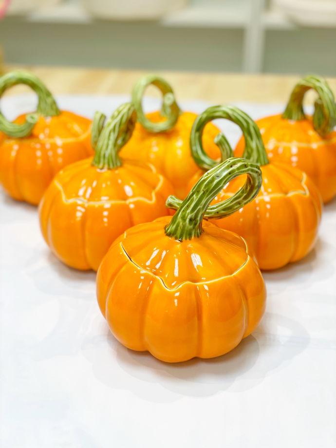 Шкатулка Супница оранжевая Тыква