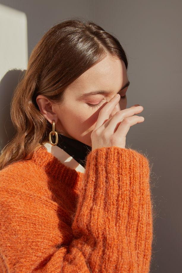 Оверсайз свитер из мериносовой шерсти с мохером