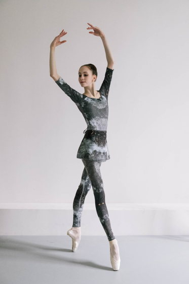 Юбка на запах, испачканная принтом для балета / танцев  | 3 длины