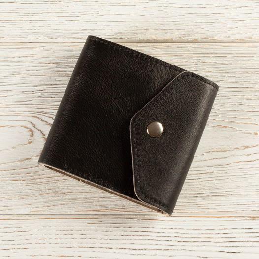 Кожаный кошелек малый (черный)