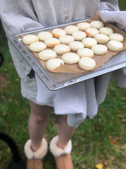 Нежные запеченные сырники из натурального творога, без глютена. Бесплатная доставка до 15.04!)