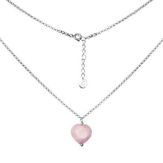 """Подвеска """"Amore"""" с розовым кварцем в форме сердца"""
