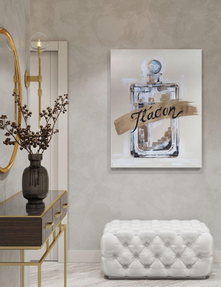 Постер ручной работы, акрил, бумага FLACON 3