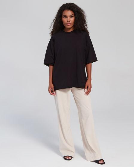Прямые брюки // цвет: бежевый