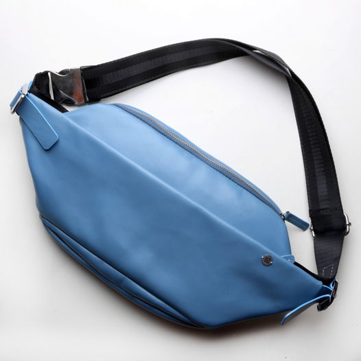 Кожаная поясная сумка Guarda аквамарин limited