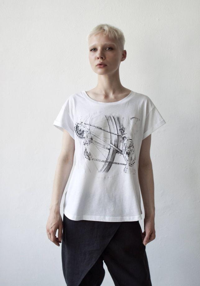 женские футболки с принтом велосипед, светящиеся в темноте