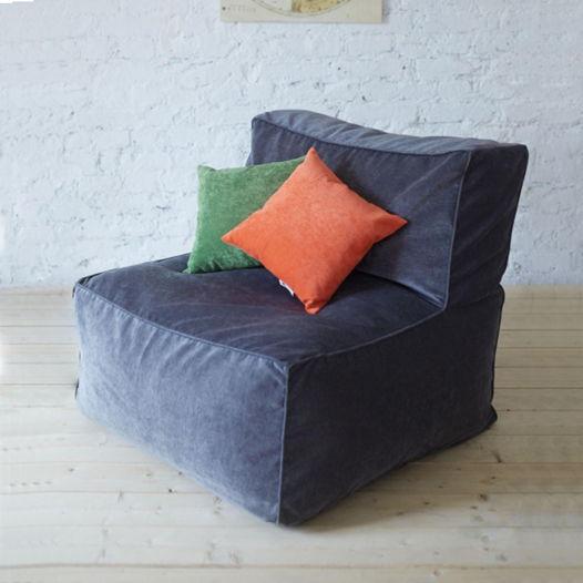 Бескаркасное модульное кресло с прямой спинкой