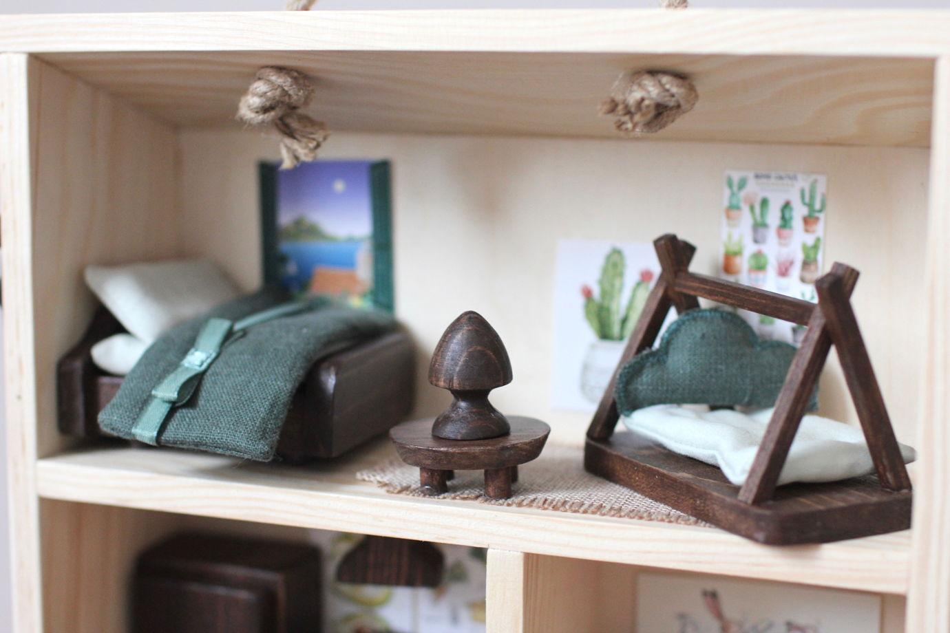 Деревянный кукольный чемоданчик - Современная квартира - куклам Лол, Сильваниан