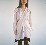 Рубашка-кимоно трансформер с двумя воротниками (upcycle)