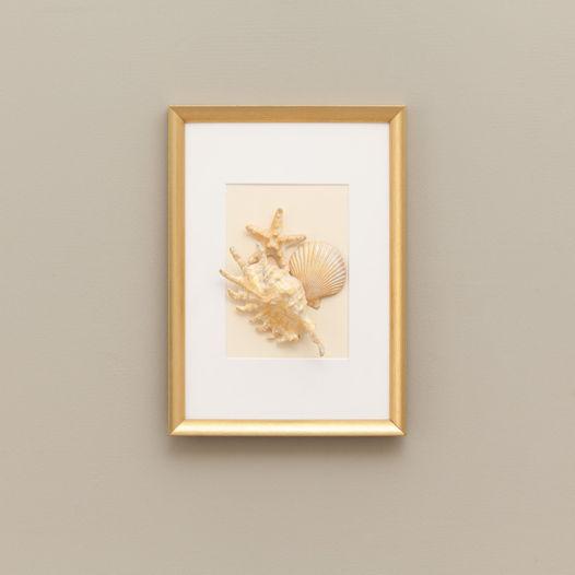Морское панно в бело-золотистой гамме