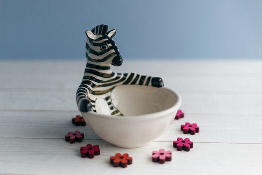 керамическая пиала Отдыхающая зебра