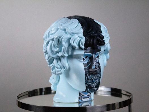 Гипсовая скульптура Антиной, 25х25х34 см