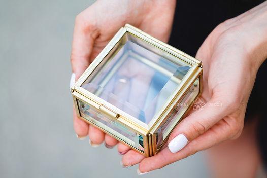Маленькая Фацетная Шкатулка для Украшений и Колечек на Свадьбу