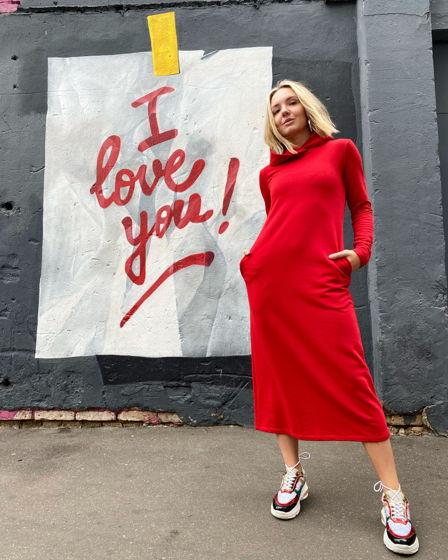 Платье красное (футер)