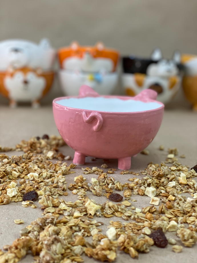Пиала розовая Хрюшка