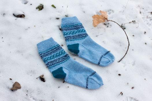 Шерстяные носки / Северное сияние