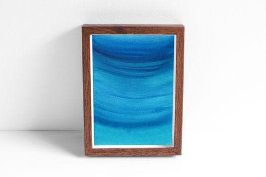 """Акварельный рисунок """"Глубоко-синее №2"""""""